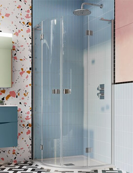 Crosswater Design Plus Quadrant Double Hinged Door Enclosure