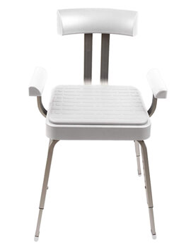 Croydex Serenity Shower Chair With White Seat