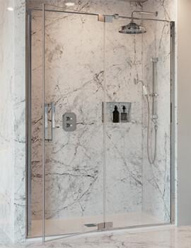 Crosswater Optix 10 2000mm Height Pivot Door With Inline Panel