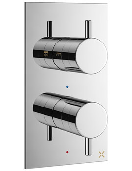Crosswater MPRO Chrome Thermostatic Single Outlet Shower Valve