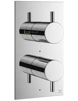 Crosswater MPRO Wall Mounted Thermostatic Bath Shower Valve With 2 Way Diverter