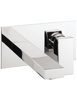 Crosswater Verge 2 Hole Wall Mounted Basin Tap