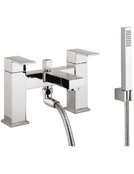 Crosswater Verge Deck Mounted Bath Shower Mixer Tap With Kit