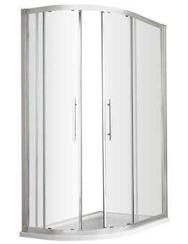 Hudson Reed Apex Double Door Sliding Offset Quadrant Shower Enclosure