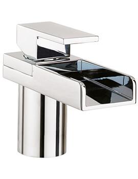 Crosswater Water Square Monobloc Basin Mixer Tap Chrome