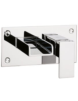 Crosswater Water Square Wall Mounted 2 Hole Basin Mixer Tap Chrome