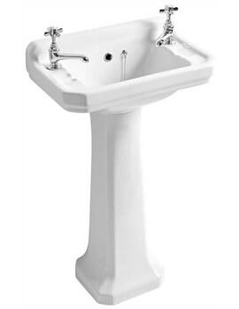 Roper Rhodes Harrow 2 Hole Tap Cloakroom Basin And Pedestal
