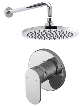 Nuie Binsey Manual Valve With Fixed Shower Head And Arm