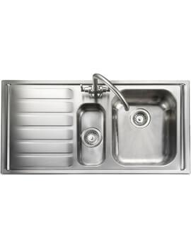 Rangemaster Manhattan 1.5 Bowl Stainless Steel Kitchen Sink 1010 x 515mm