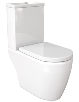 Saneux Uni Close Couple WC Pan Open Back Rimless With Cistern