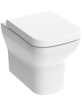 Saneux Indigo Back To Wall WC Pan Rimless With Toilet Seat