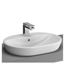 VitrA M-Line Oval 1 Tap Hole Countertop Wash Basin